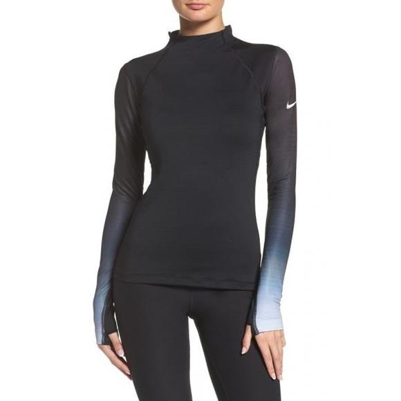 2330a3b4 Nike Tops | Nwt Womens Pro Hyperwarm Fade Long Sleeve | Poshmark